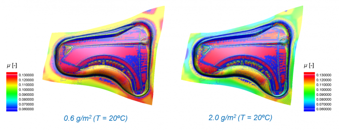 Friction results in ESI Pam-Stamp